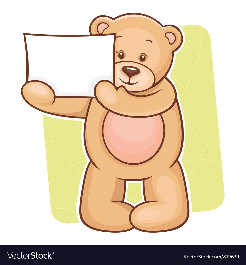 Teddy Bear sign vector image