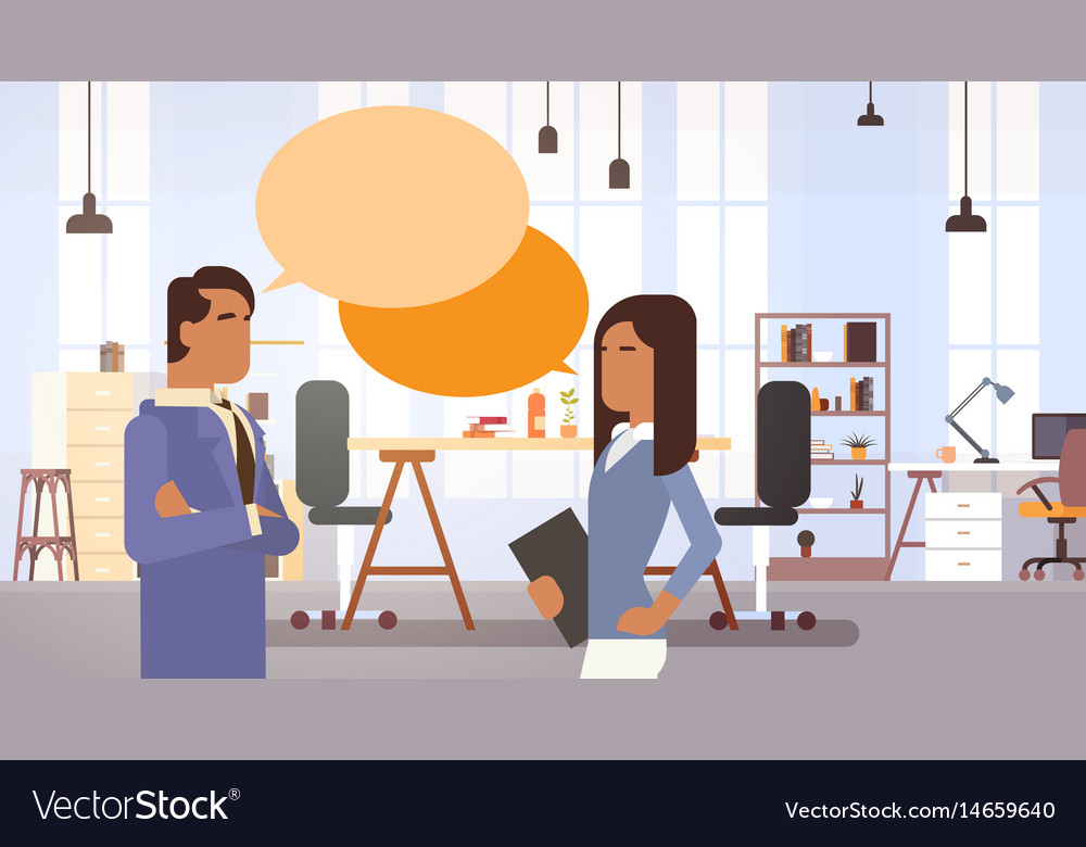 Indian business people group communication in vector image