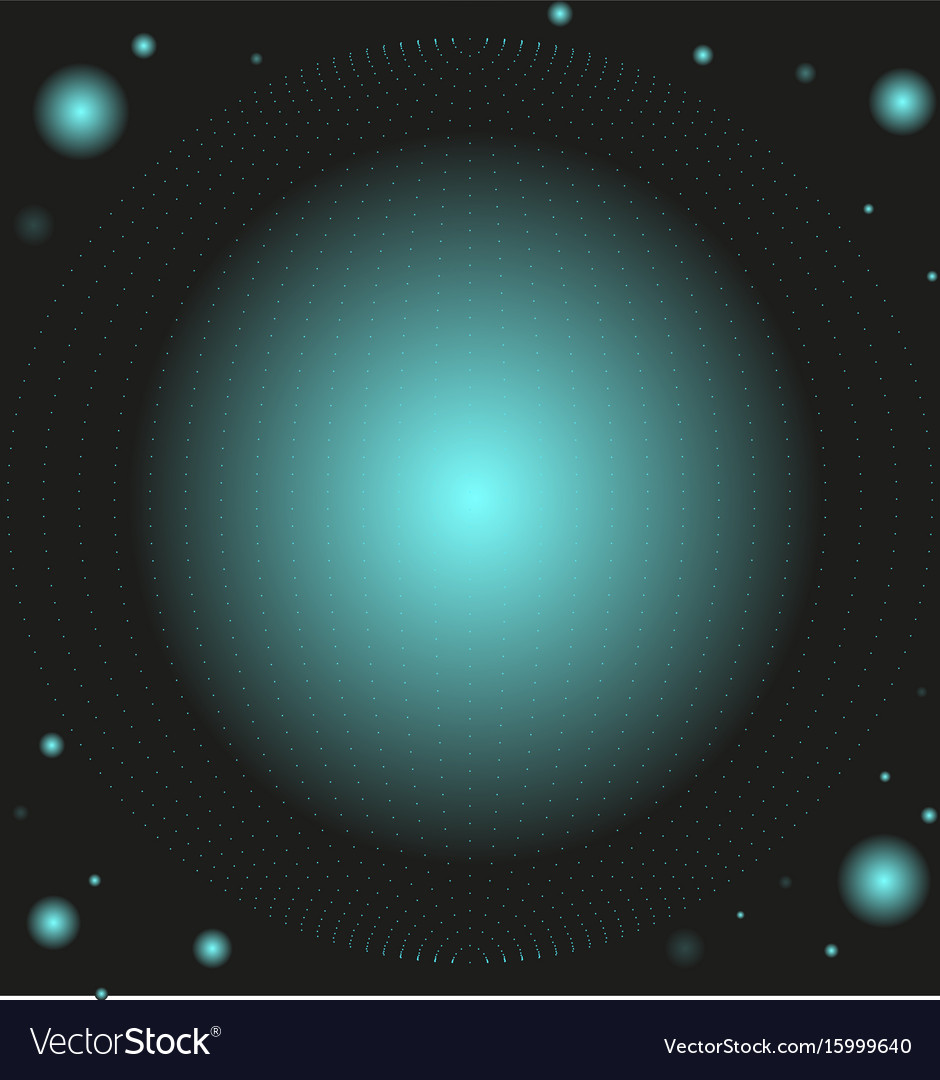 Space sphere vector image