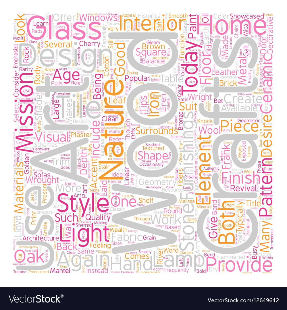 Arts and Crafts Revival text background wordcloud vector image
