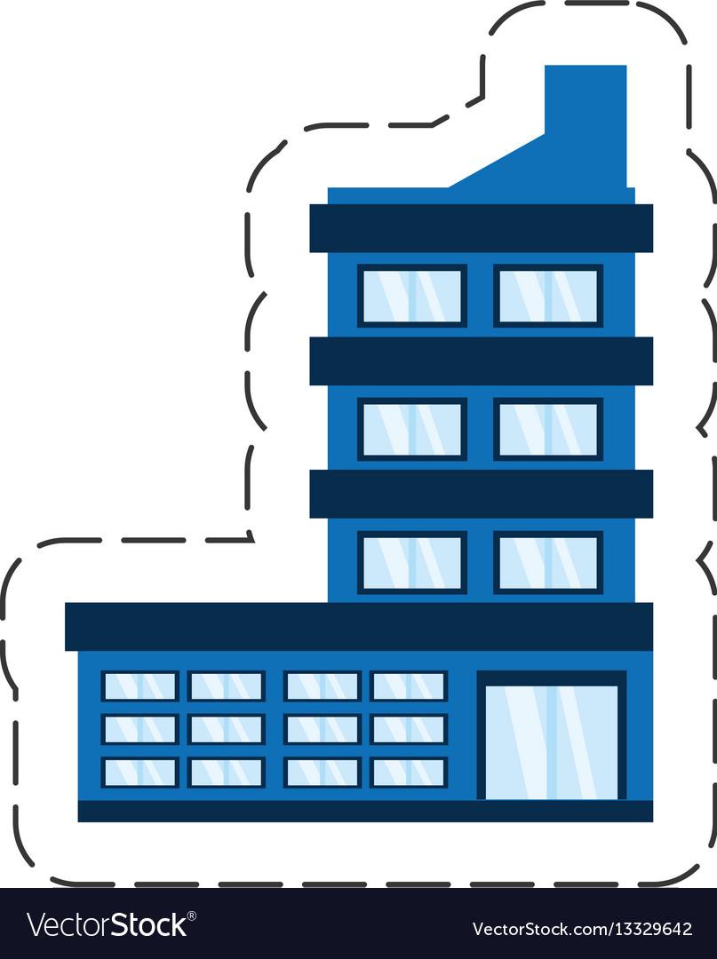 Cartoon building corporate icon vector image