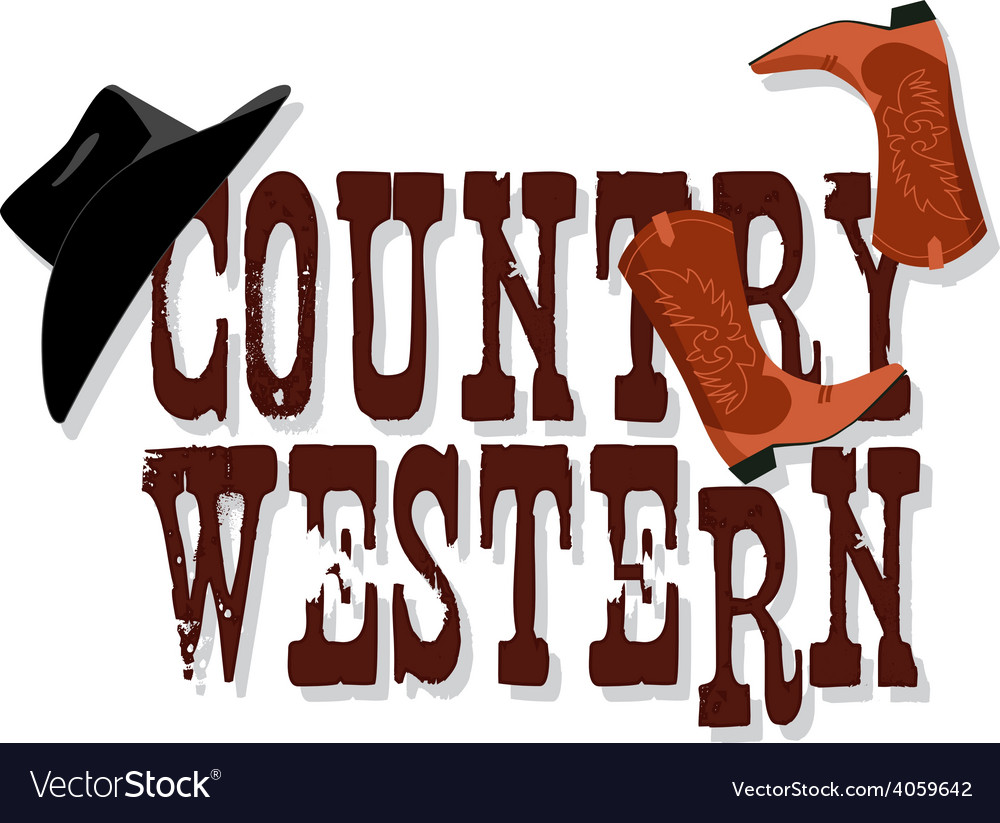 Country Western banner vector image