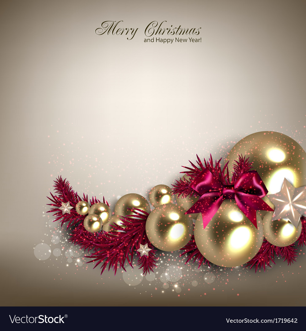 elegant background with christmas garland vector image - Christmas Garland