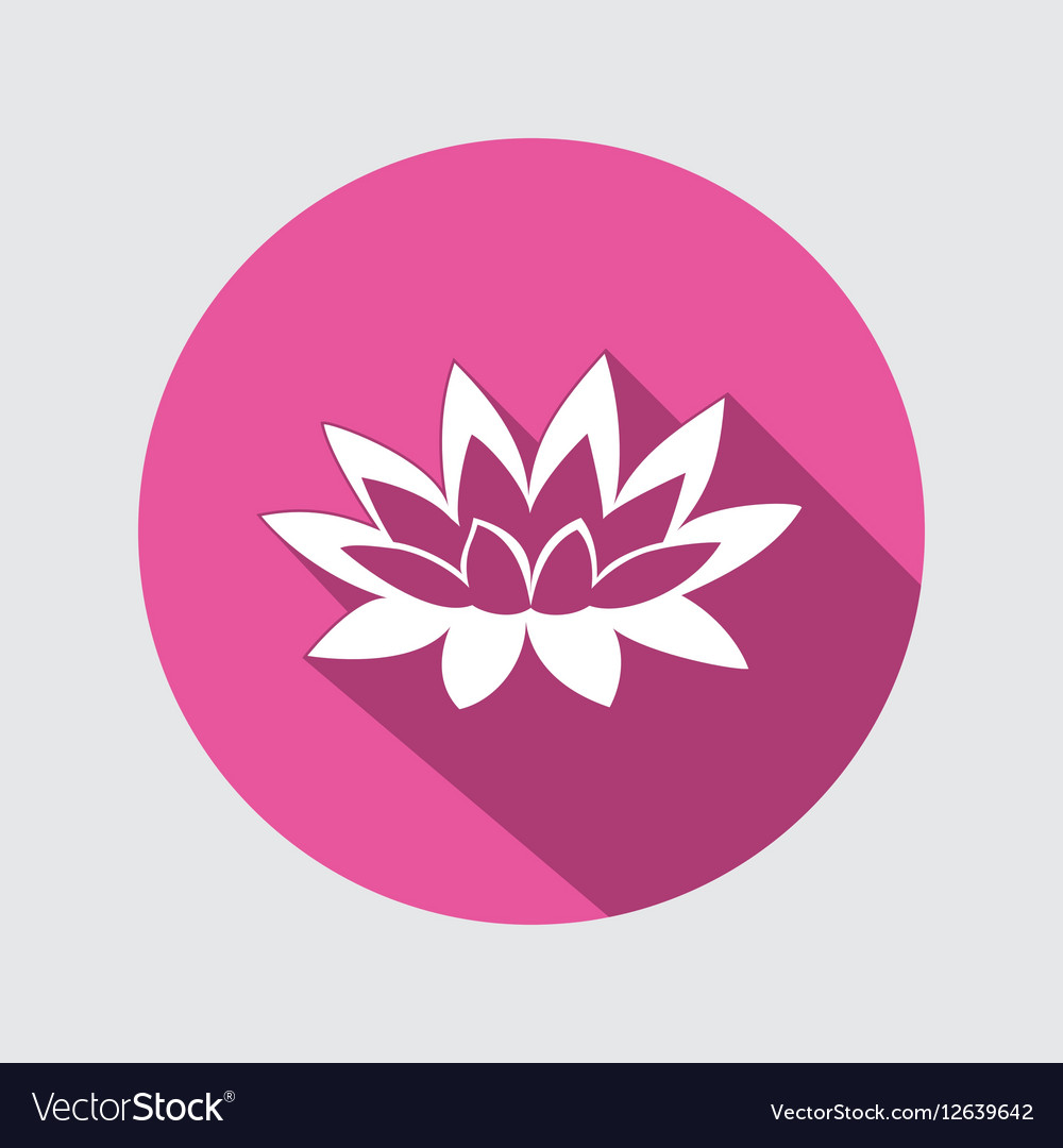 Lily lotus flower icon waterlily floral symbol vector image izmirmasajfo Choice Image