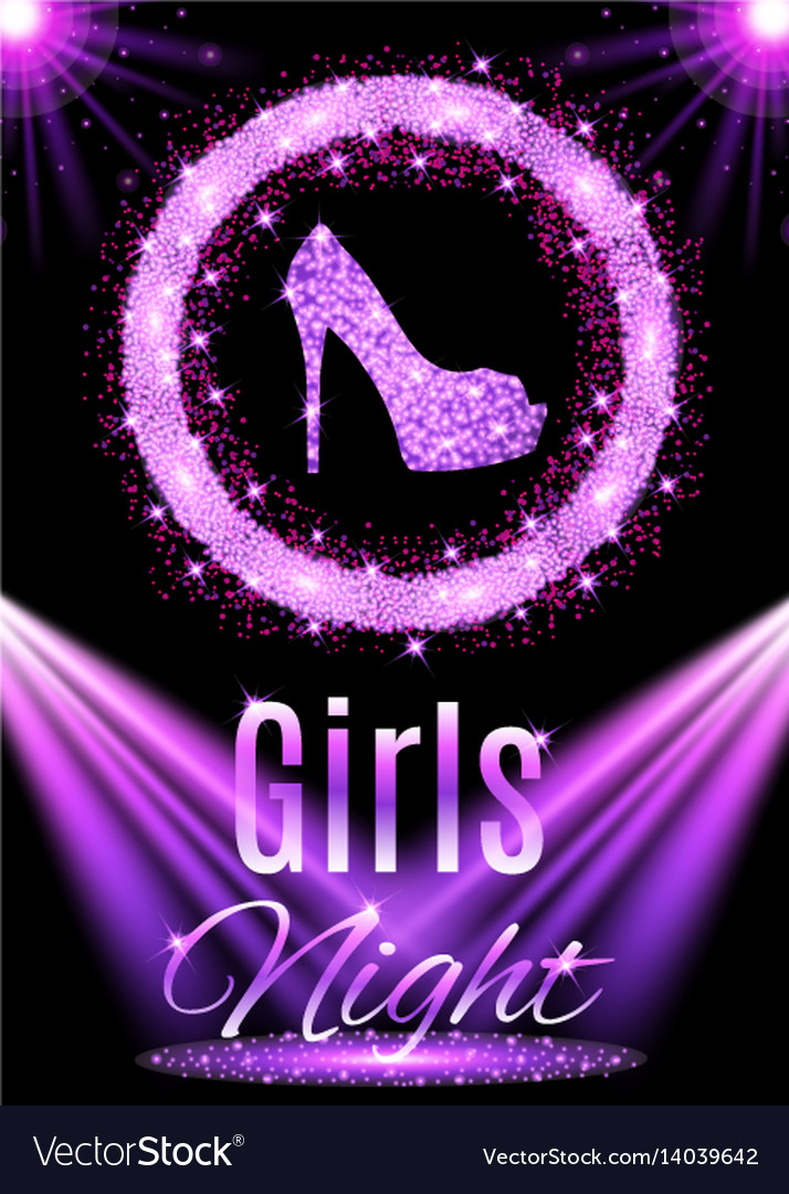 Night party design vector image