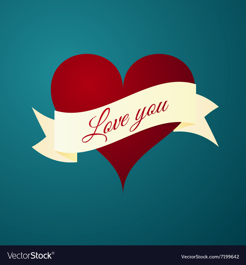 The heart vector image