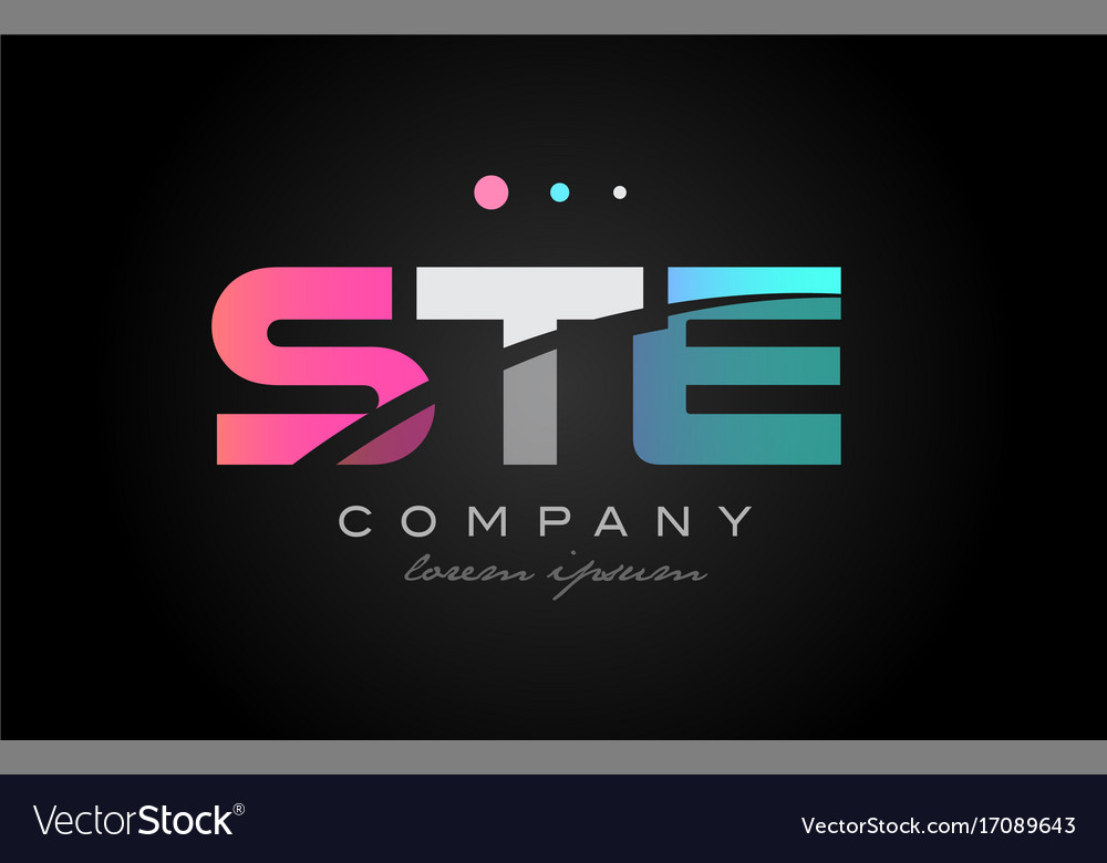 Ste s t e three letter logo icon design vector image