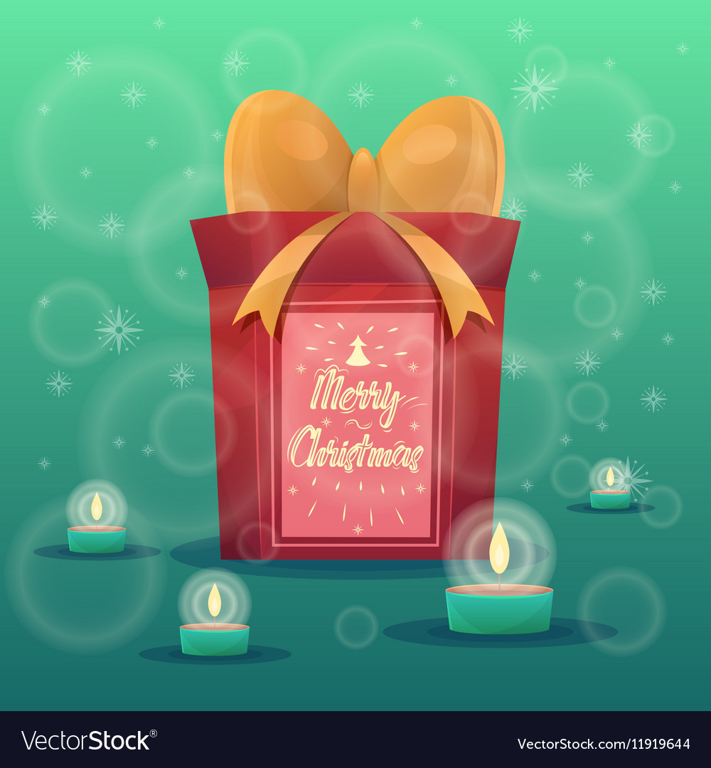 Christmas greeting card background poster Merry vector image