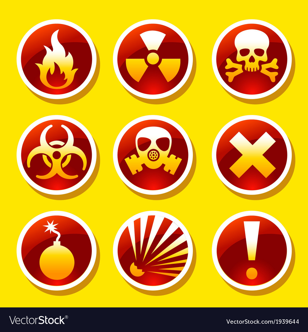 Warning stickers vector image
