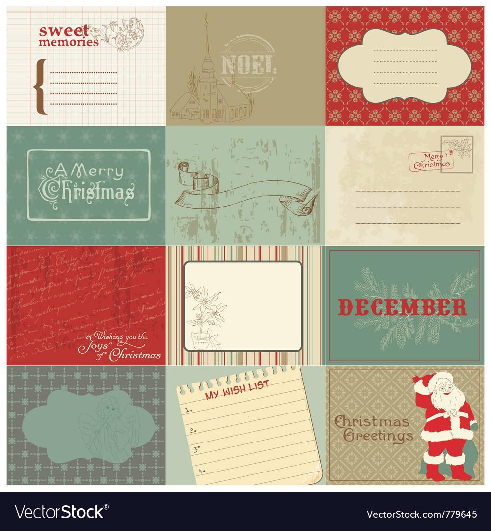 Christmas vintage design Vector Image