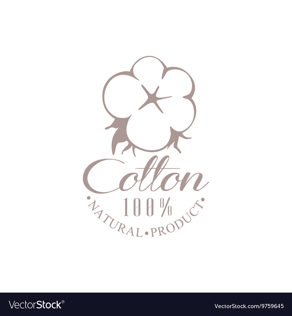 Quality Cotton Product Logo Design vector image