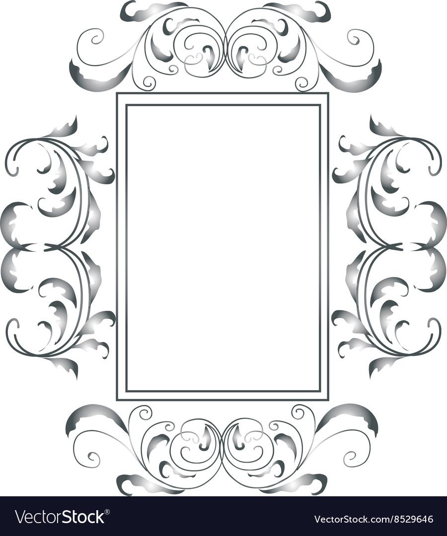 Sliver victorian frame vector image