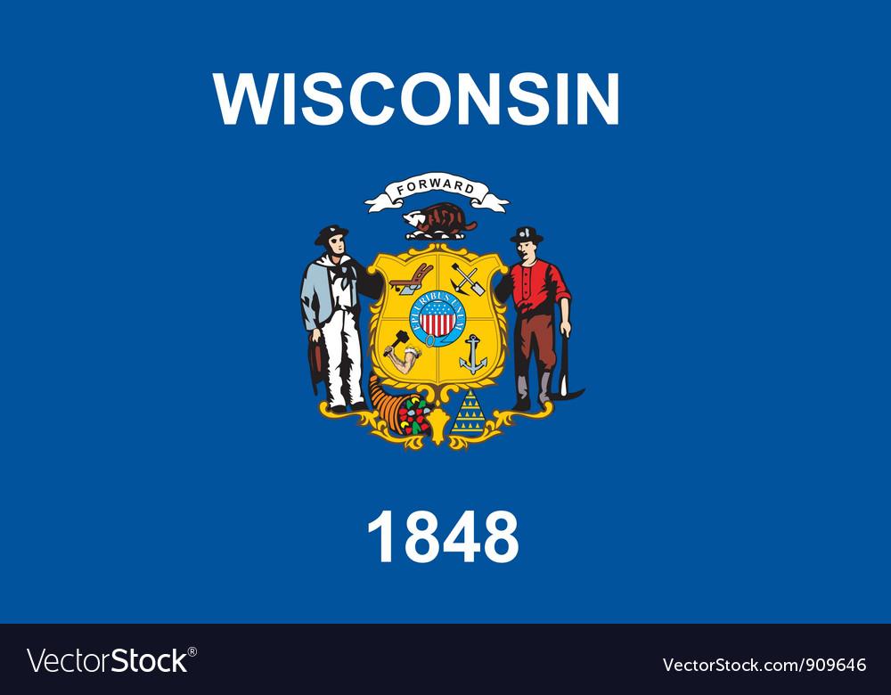 Wisconsin flag vector image