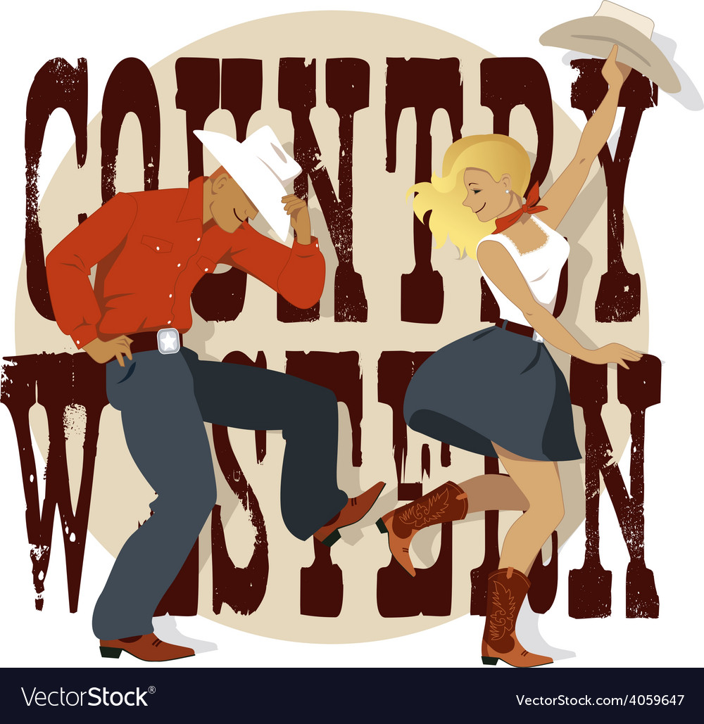 Country Western vector image