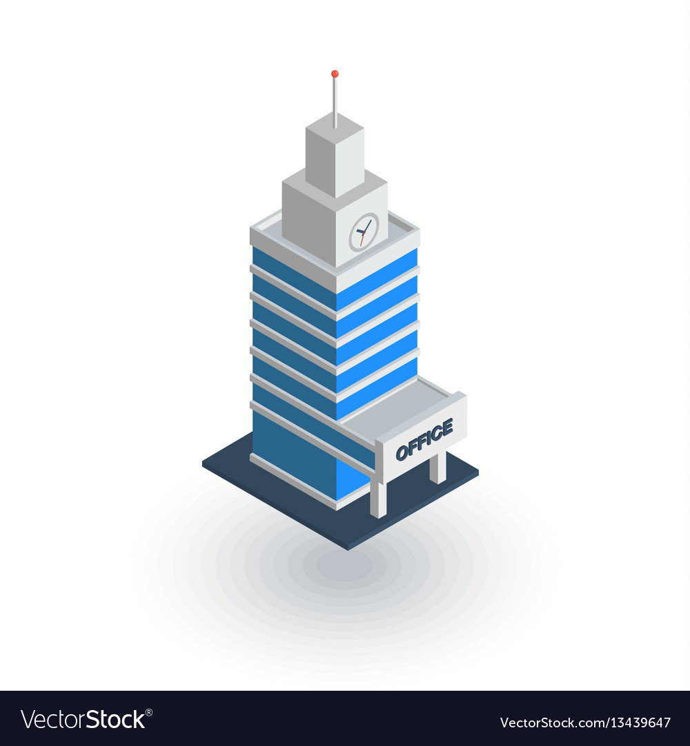 Office city building urban skyscraper isometric vector image