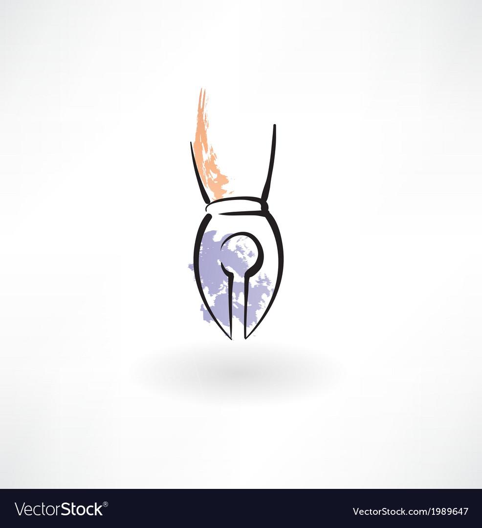 Pen grunge icon vector image