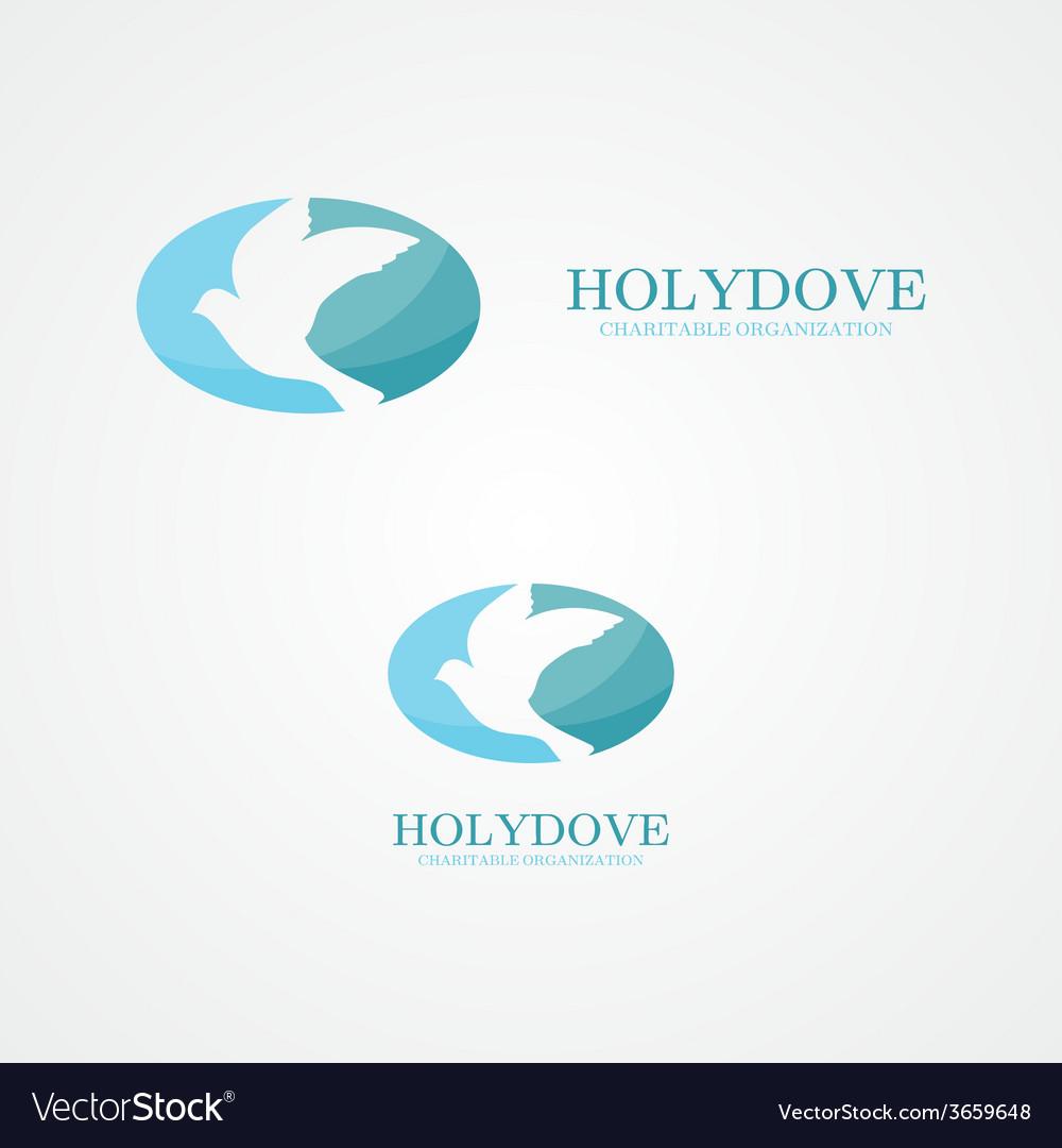 Logo dove of peace vector image