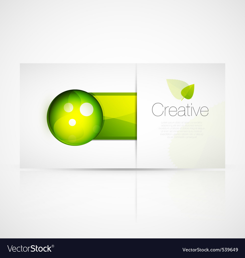 Nature technology vector image