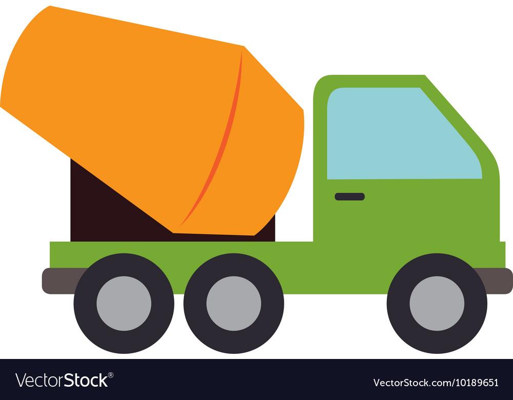 Concrete mixer truck cement icon graphic vector image