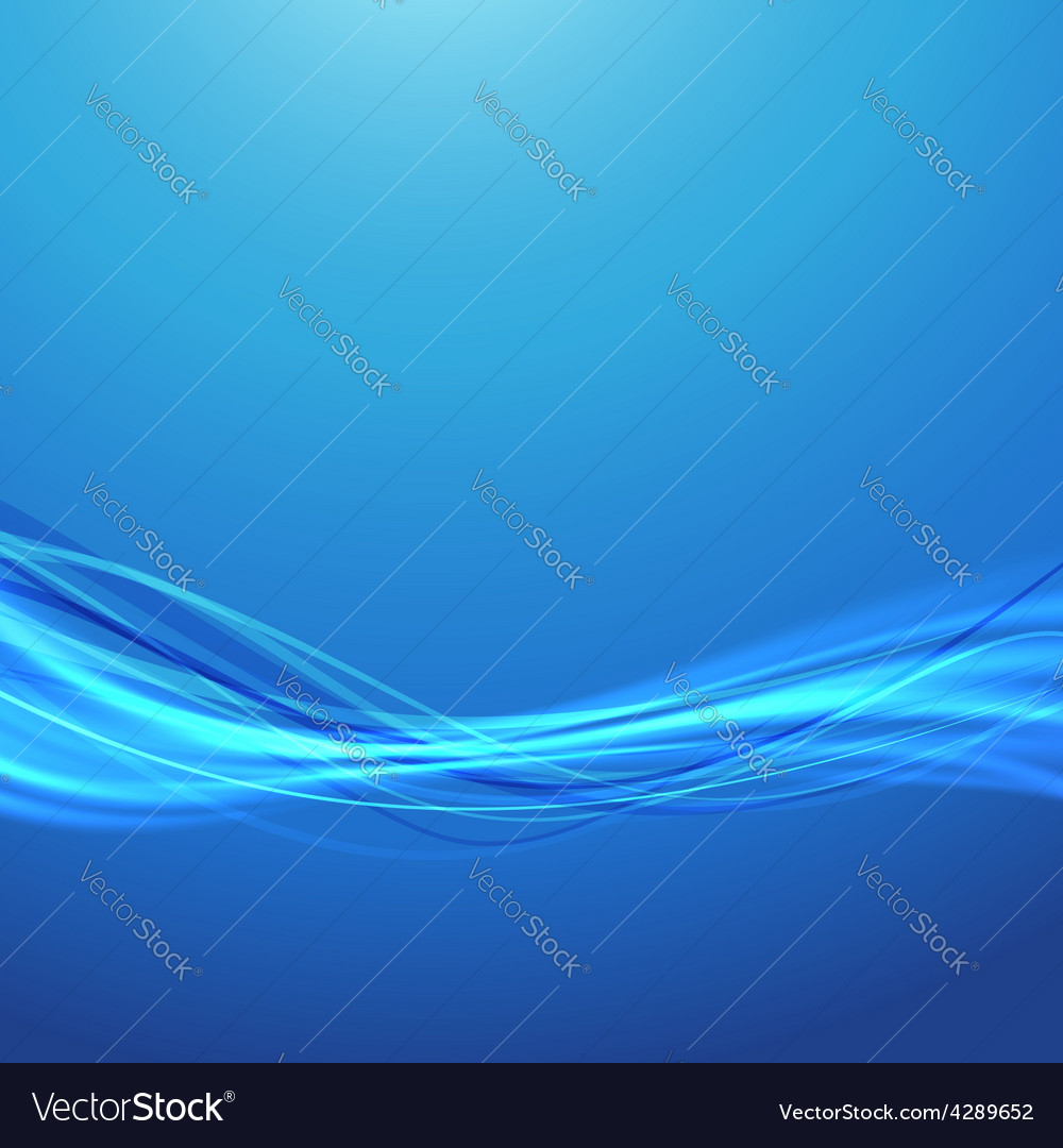 Blue wave speed swoosh smooth futuristic vector image