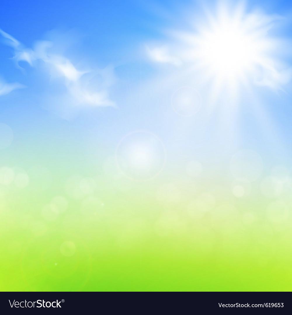 Summer or spring background vector image