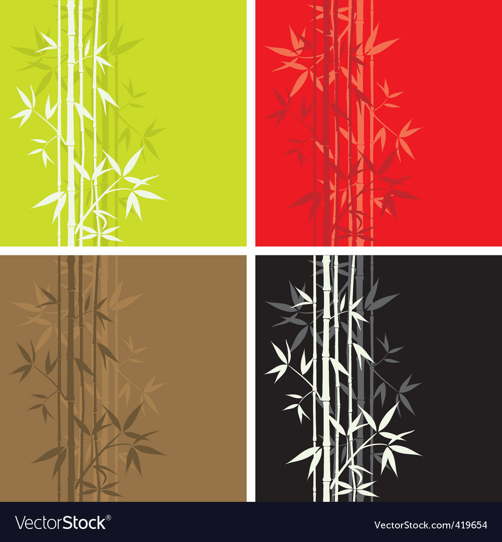 Bamboo pattern seamless vector image