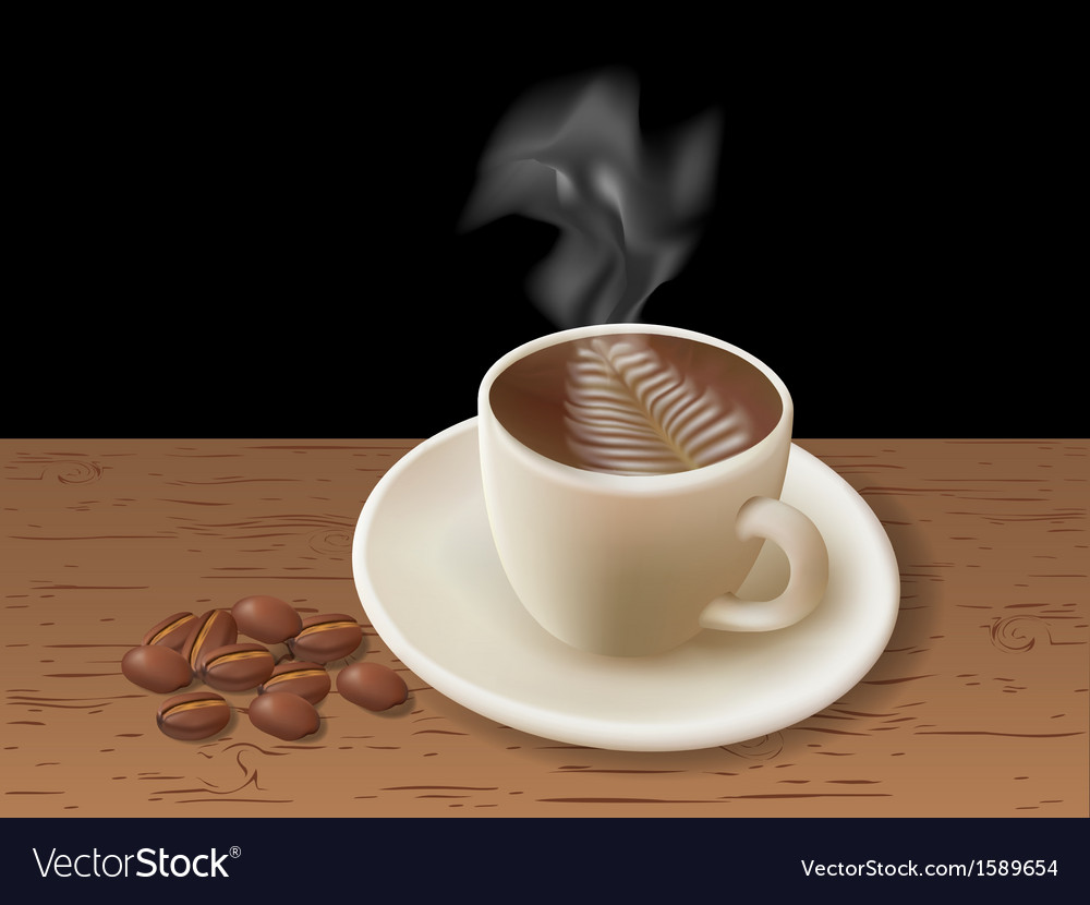Coffee vapor vector image