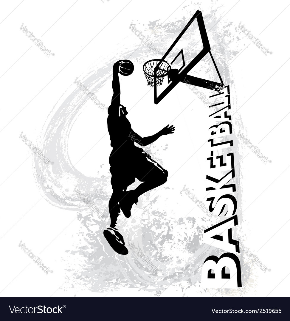 Basketball slam jam vector image