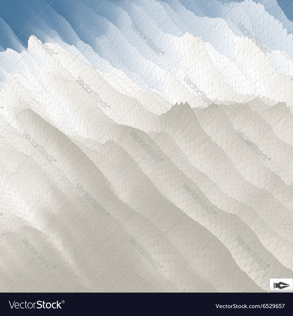 Blue Sky With Clouds Mosaic vector image
