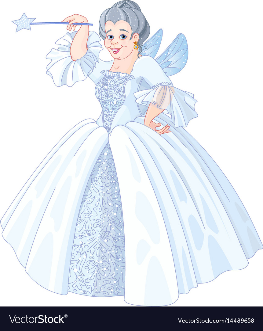 Fairy godmother vector image