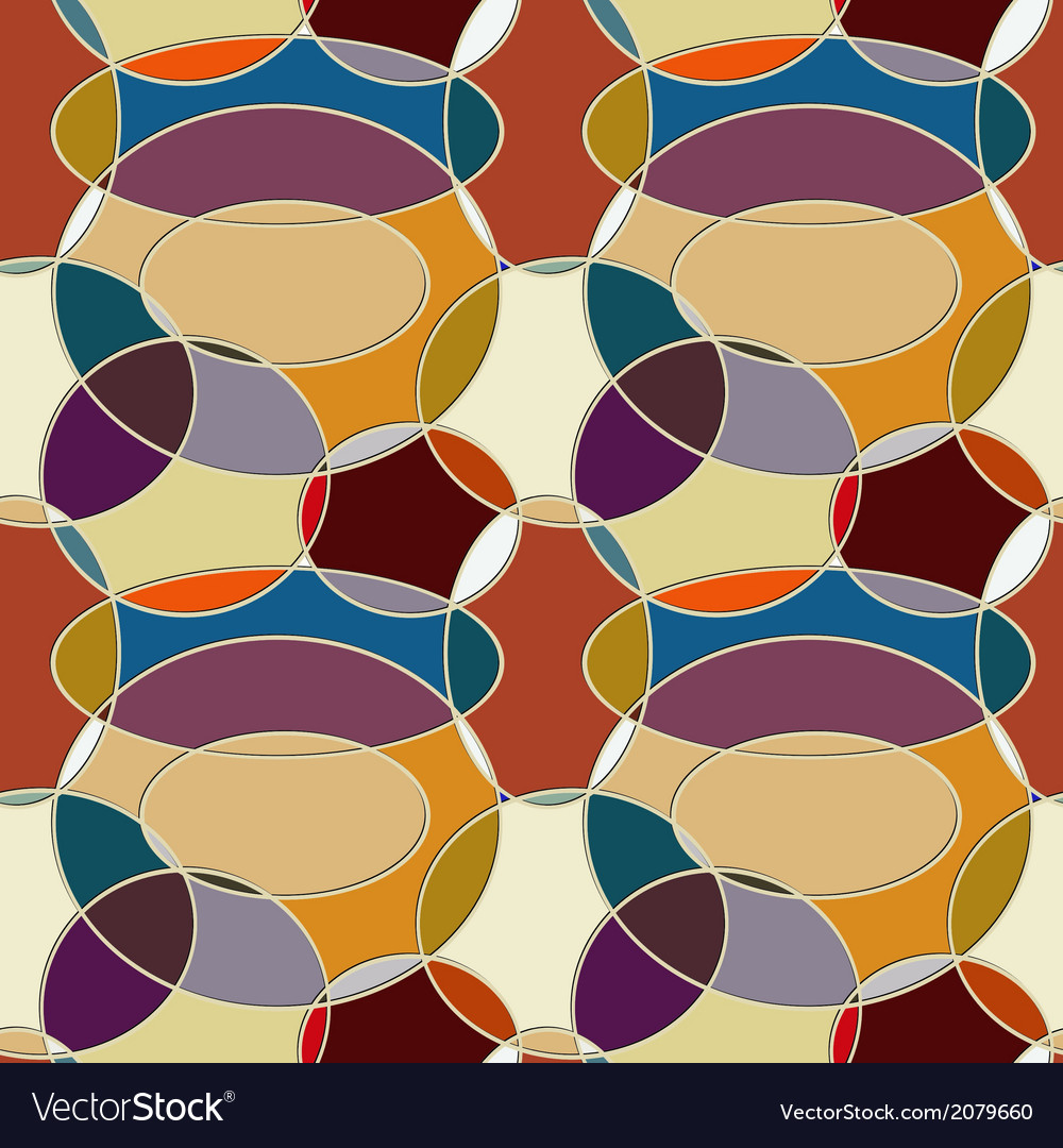 Seamless pattern of circular items vector image