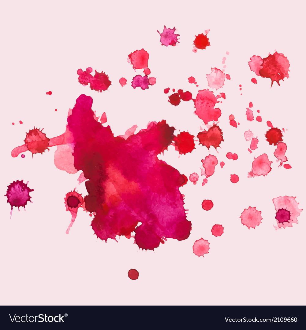 Watercolour blots splash vector image