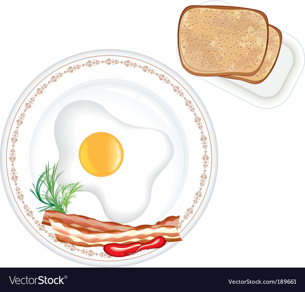 Breakfast vector image