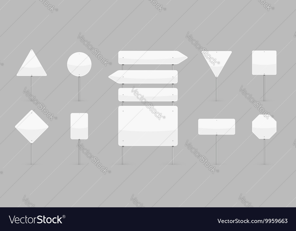Traffic Signs Templates Set vector image