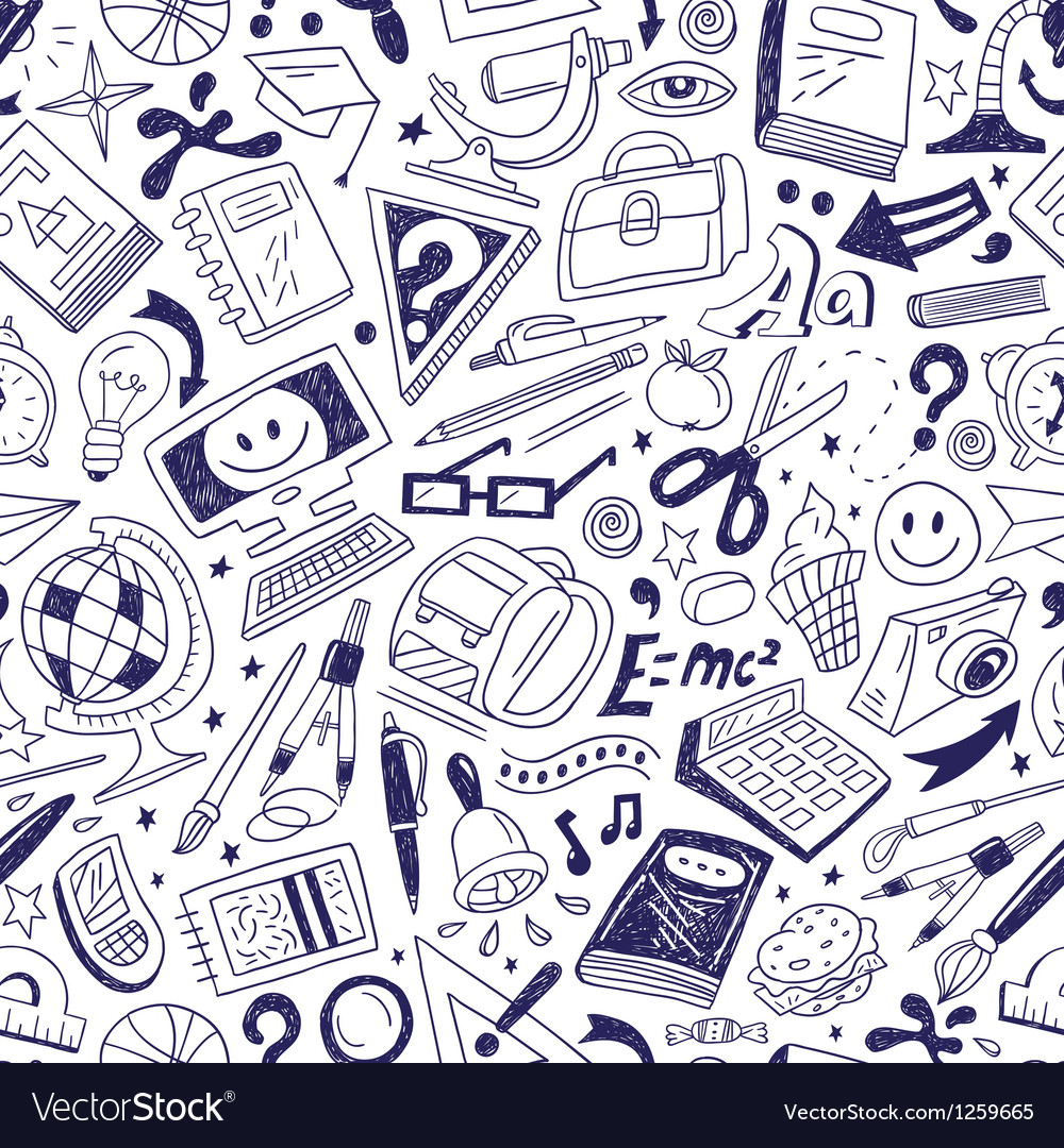 School education - seamless background vector image