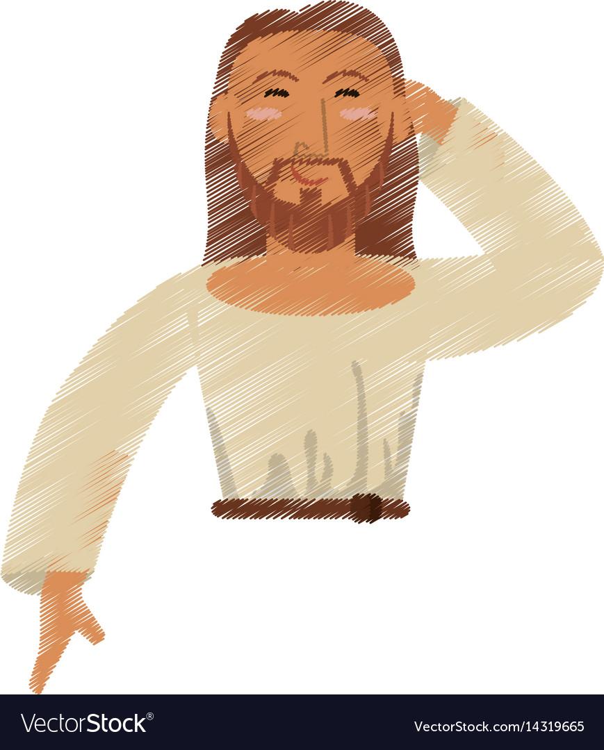 Drawing jesus christ design vector image