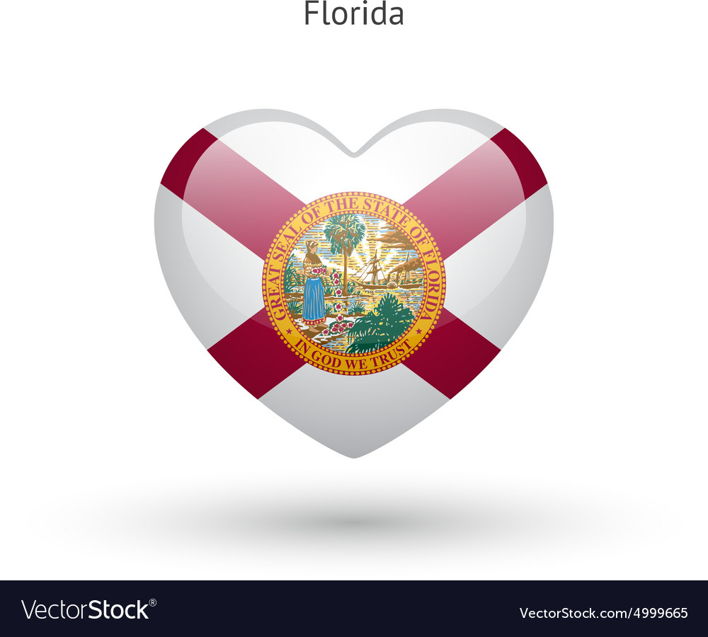 Luxury florida state symbols coloring pages florida state symbols love florida state symbol heart flag icon vector image buycottarizona Gallery