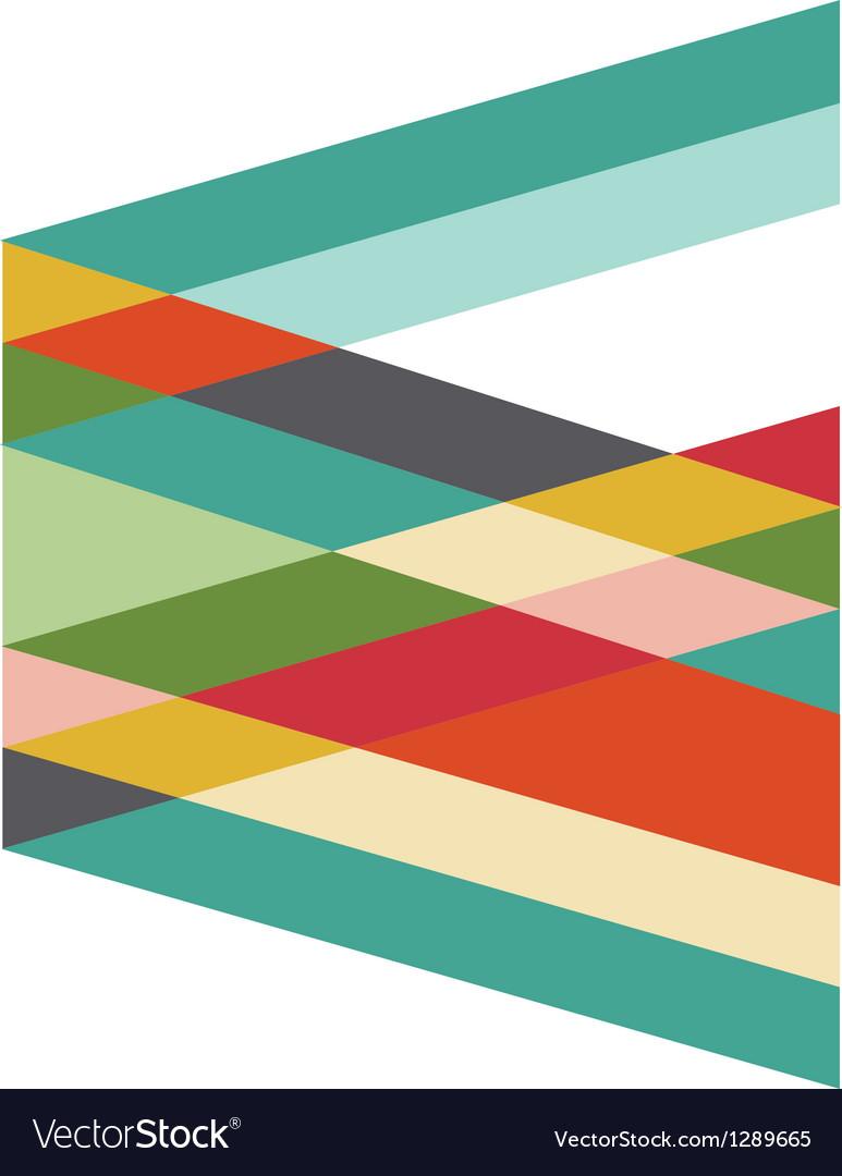 Retro geometric vector image