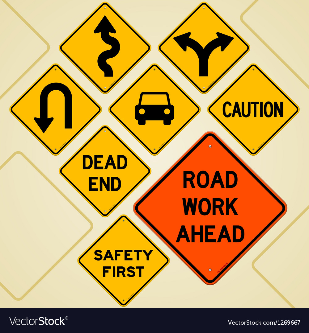 Road Sign Set Vector Image