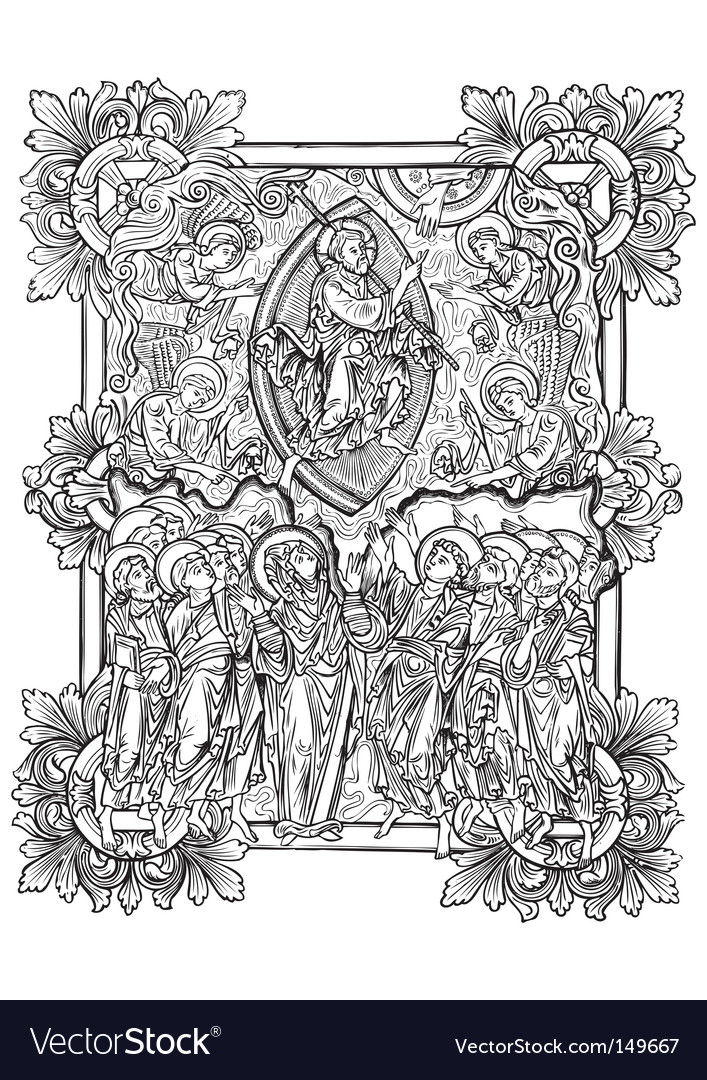 Antique engraving vector image