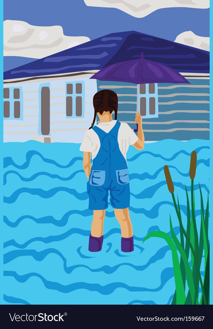 Flood vector image