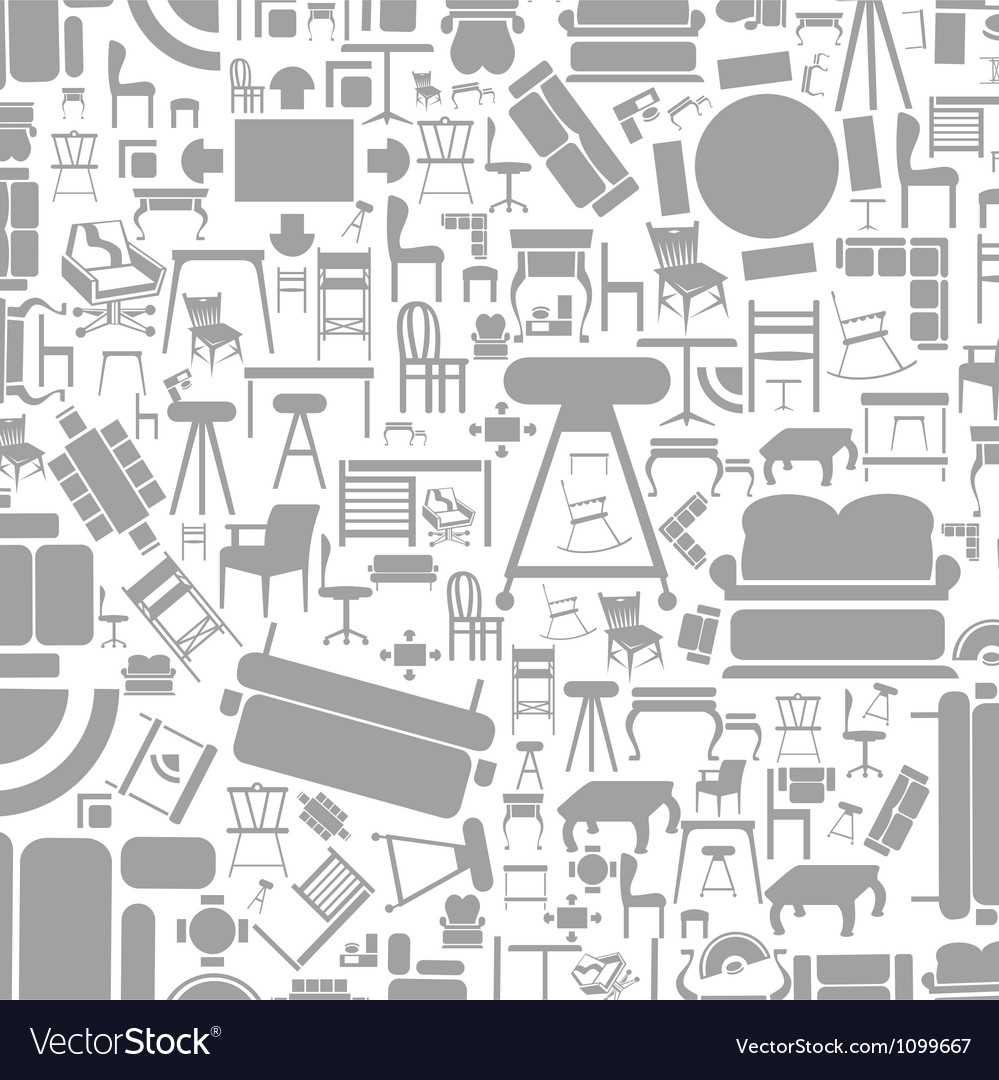 Furniture a background2 vector image