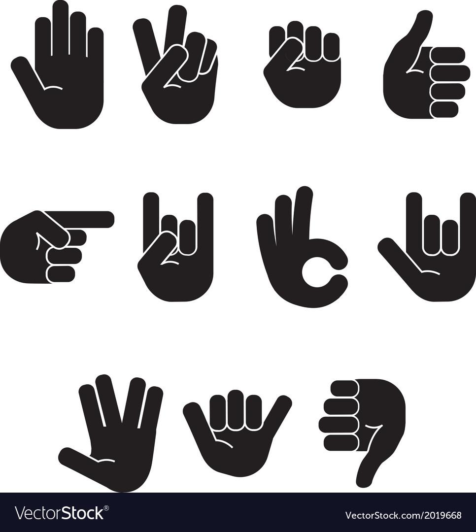 Stick figure hands vector image
