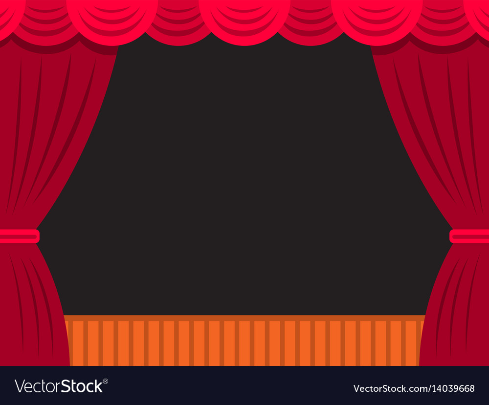 Theatre stage banner vector image