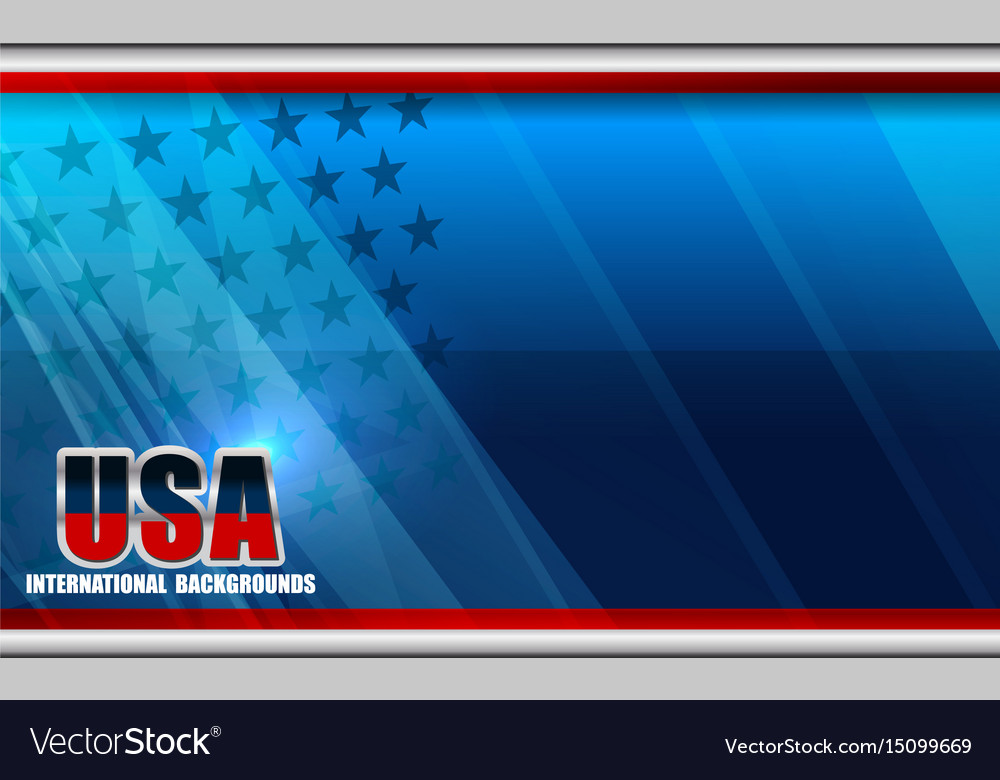 American flag backgrounds template vector image