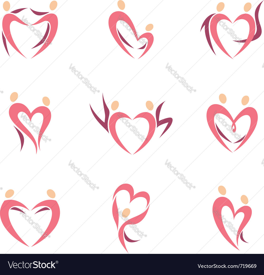 Love couples vector image