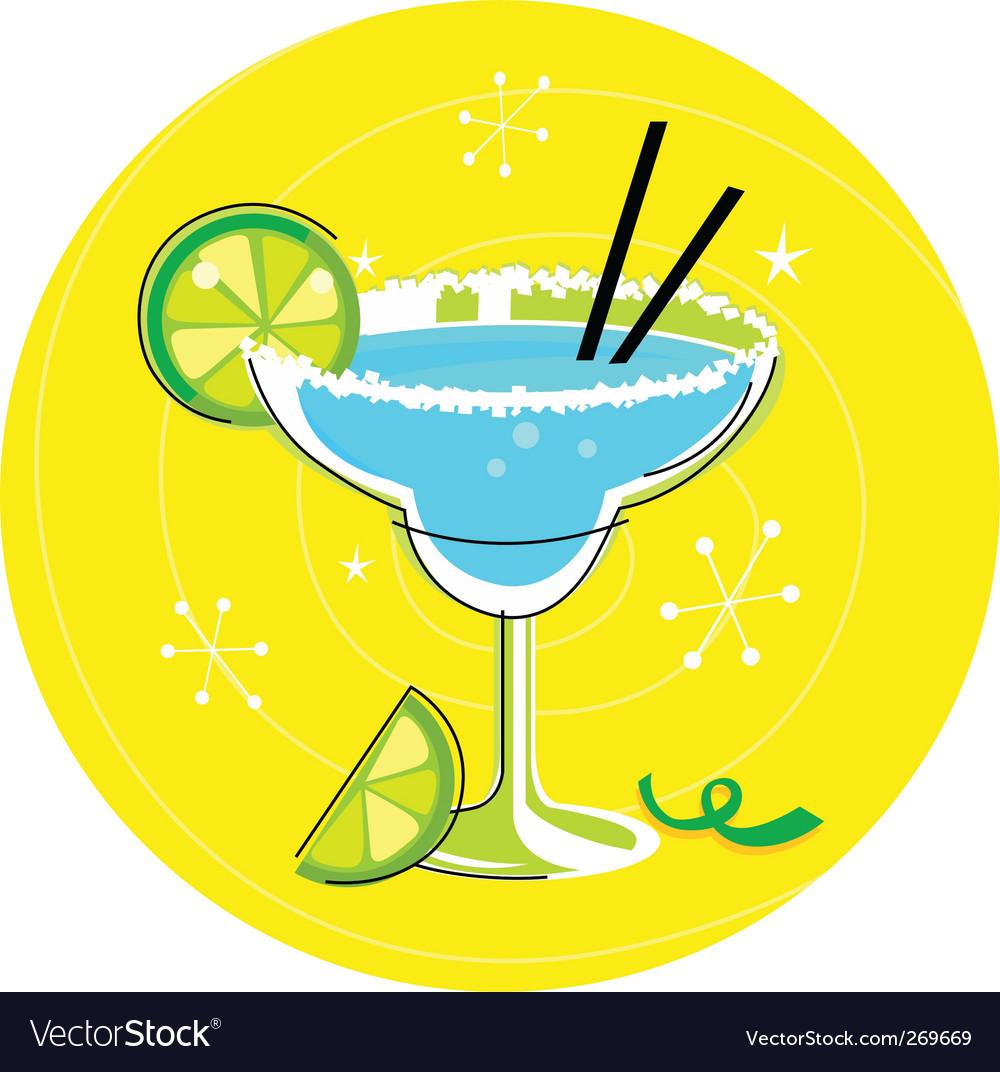 Margarita retro cocktail vector image