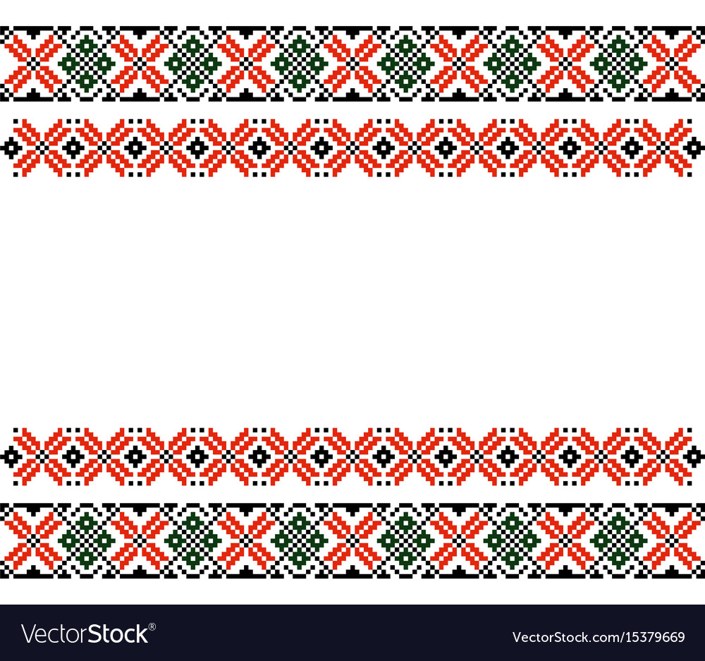 Moldovan romanian ethnic ornament pattern vector image
