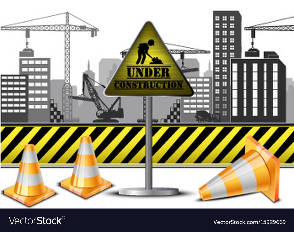 Under construction concept vector image