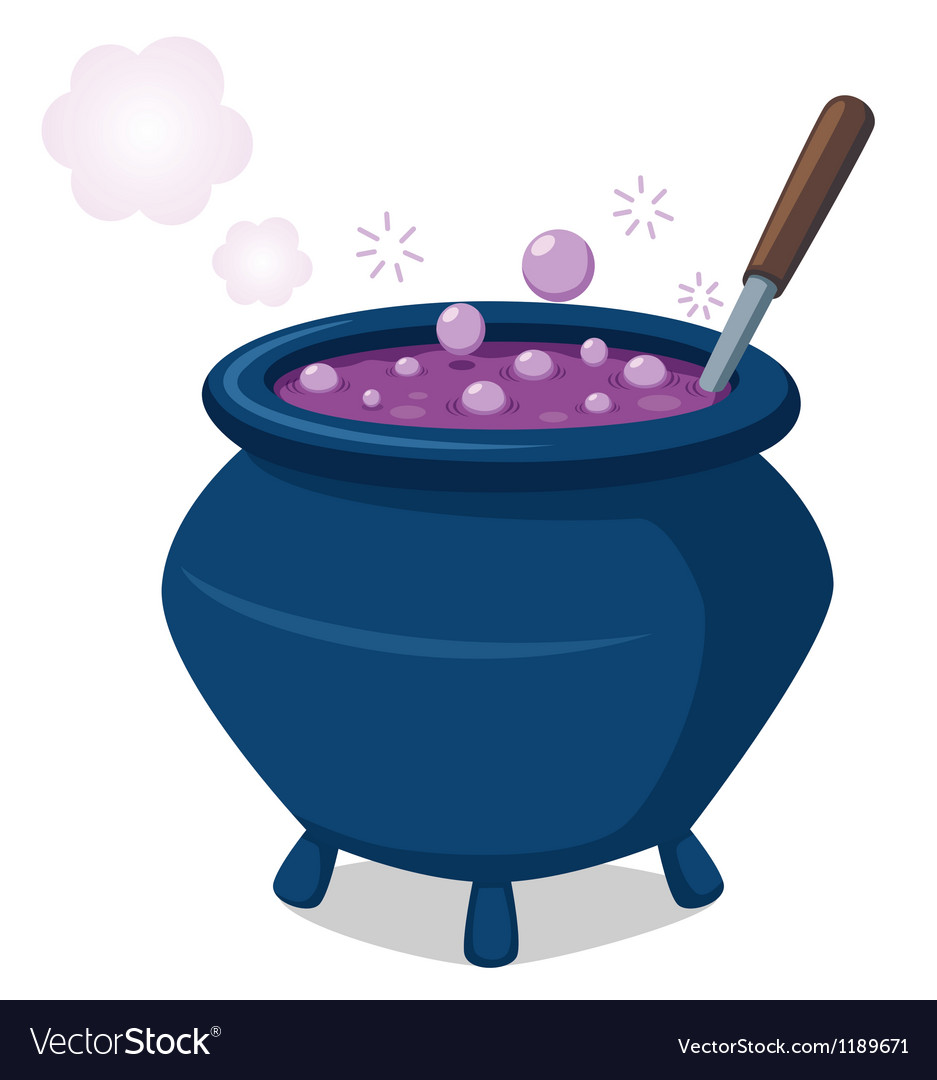 Witchs cauldron Vector Image